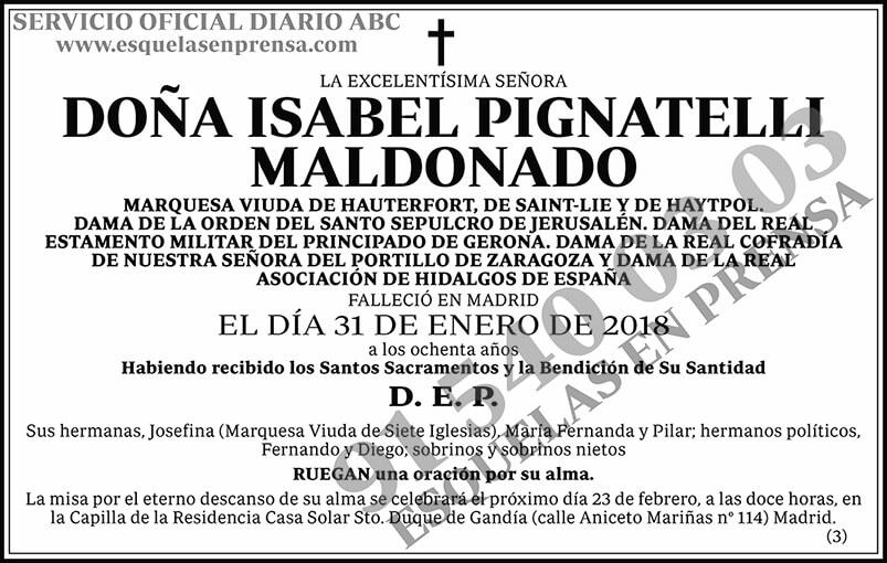 Isabel Pignatelli Maldonado